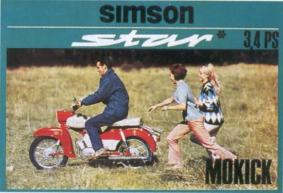 Werbung Simson Star