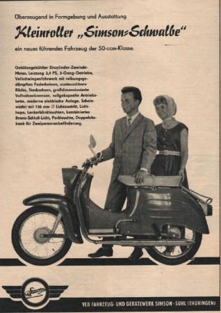 Werbung Simson Schwalbe