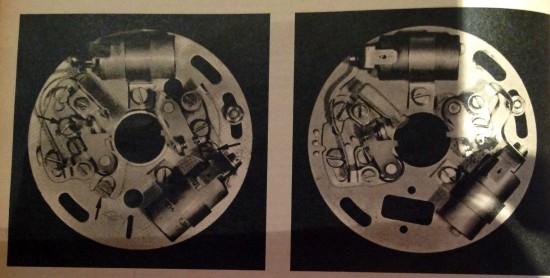 Trabant 601 Unterbrecherplatte mit Exzentereinstellung