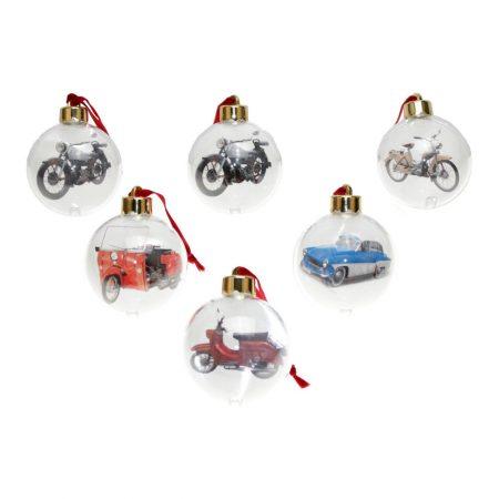 Weihnachtsbaumkugeln mit DDR-Motiven